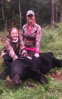 2019: Ashley Reininghaus of Fulton County with a 240-pound black bear taken Sept. 14 in Hamilton County.