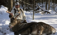 2019: Jay Scott of Blue Mt. Lake with a big-bodied 7-pointer taken in Indian Lake, Hamilton County on Nov. 13.