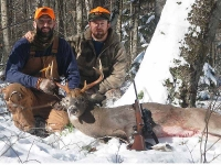 2019: Justin Dixon and Chad Johnson of the Camp Witamy Hunting Club with Justin's 185-pound, 8-pointer taken in Hamilton County on Nov, 13, 2019