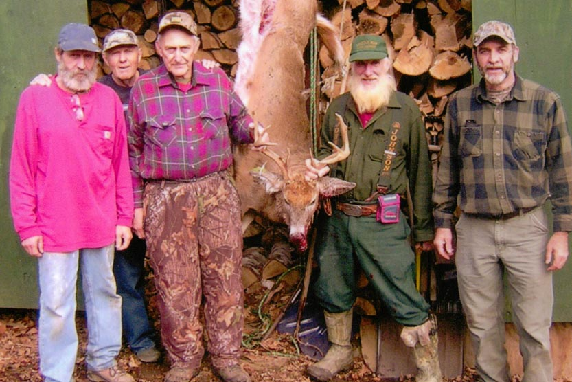 "Joe ""Popcorn"" Eggleston of Gansevoort, NY killed this 8-pointer on the last day of the 2015 rifle season in northern Washington County"