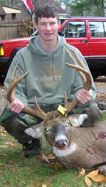 2007: Josh McMahon (age 17) of Lake George, NY, 8-pointer