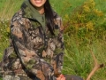 2012: Stacia Sakadolsky of Northville, NY, youth hunt near Stanfordville, NY.