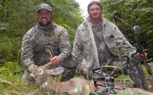 Father and sone, Zach and Jeff Chapman with Jeff's 117-pound, 3-pointer taken Oct. 1 in Saratoga County.