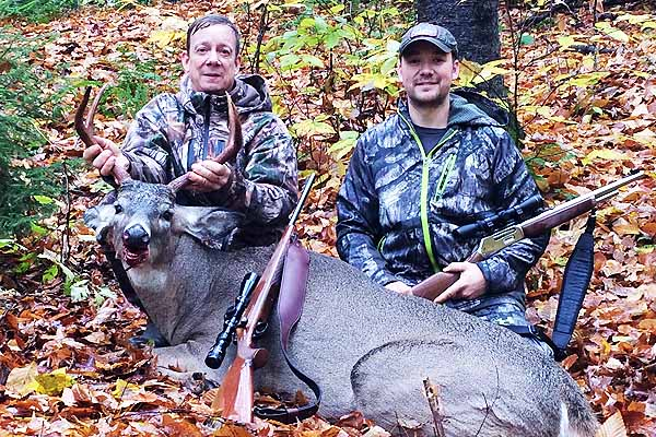 Don Schroeder of Sharon Spring with a exceptional 190-pound, 5-pointer taken near Caroga lake, Hamilton County. County of huntHamilton