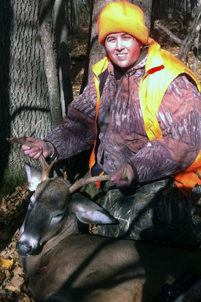 Christina Shea of Mineville. 150-pound, 7-pointer taken in West Port, Essex County.