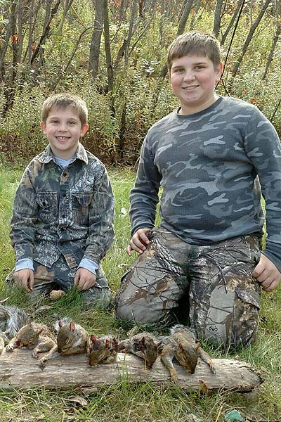 Charlie and Keagan Welch had a successful squirrel hunt in Willsboro, Essex County