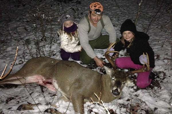 Brendan Richardson of St. Regis Falls with a 205-pound, 8-pointer taken in Waverly, Franklin County, NY on Nov. 14.