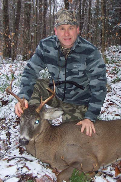 Dave Grose took advantage of some southern Adirondack snowfall and tracked this 130-pound, 6-pointer on Nov. 14 out of Camp Mixed Nuts, Herkimer County Town of Salisbury.
