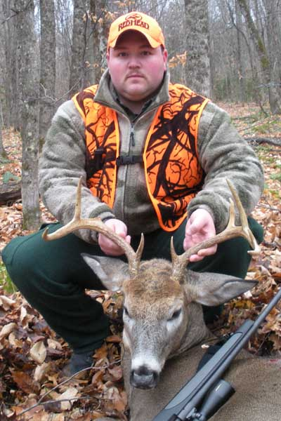 Devin Thomas of Potsdam with a 160-pound, 8-pointer taken Nov. 19 in Tupper Lake Franklin County