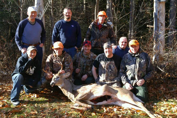 Justin Deming of Balltson Spa with a 6-pointer taken in Piseco with the Big Head Hunting Club, Hamilton County