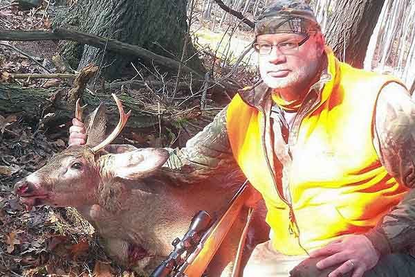 Joe Chowske of South Glens Falls with a 125-pound, 4-pointer taken Nov. 15 in Moreau, Saratoga County
