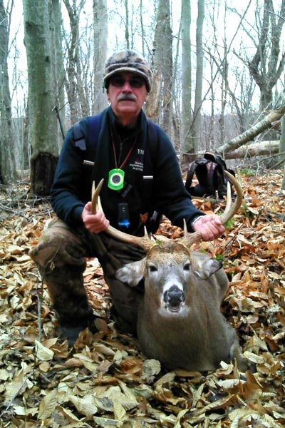 Paul Dingman of Plattsburgh, 160-pound, 8-pointer taken Nov. 21 in Hopkinton, St. Lawrence