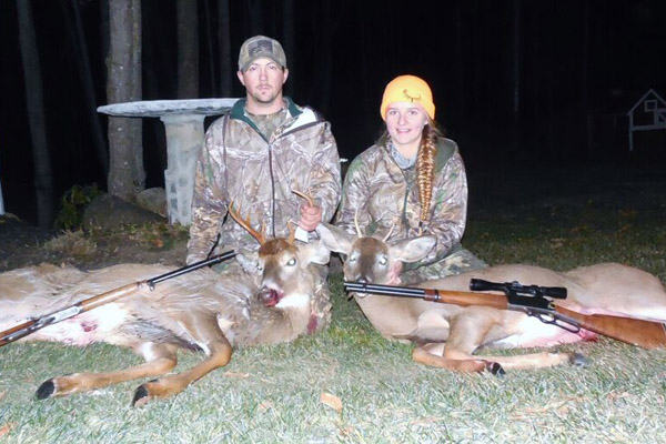 Jeremy Jensen and Kristi Bills of Edinburg an 8-pointer and spike taken Nov. 29 in Saratoga County