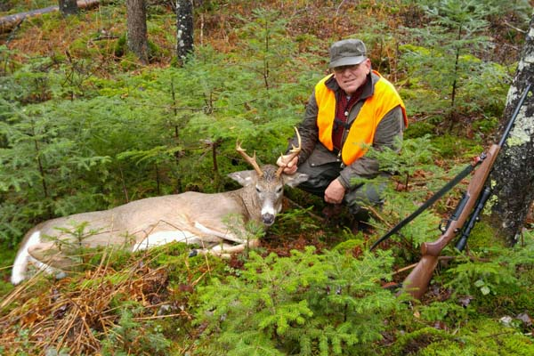 Stephen Thomas of Potsdam, 150-pound, 8-pointer taken Nov. 13 in Tupper Lake, Franklin County