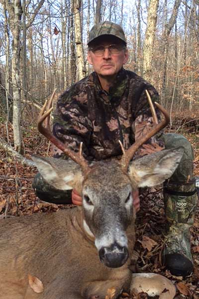 Joe Chase of South Glens Falls with a 140-pound, 7-pointer taken in Warren County