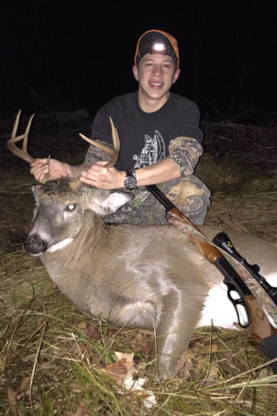 Jordan Arango of Albany with a 7-pointer taken Nov. 27, 2015 in Essex County