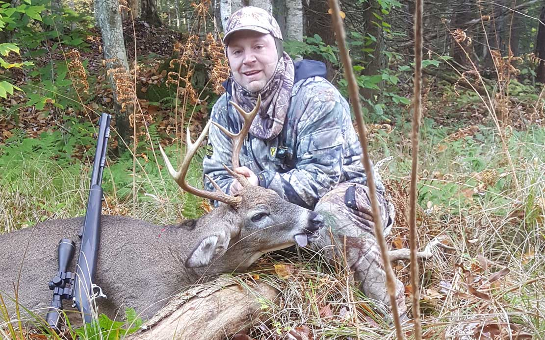 John Haresign of Phoenix, NY: 167-pound, 8 pointer taken in Redfield on opening morning of Northern Zone muzzleloader, 2016.
