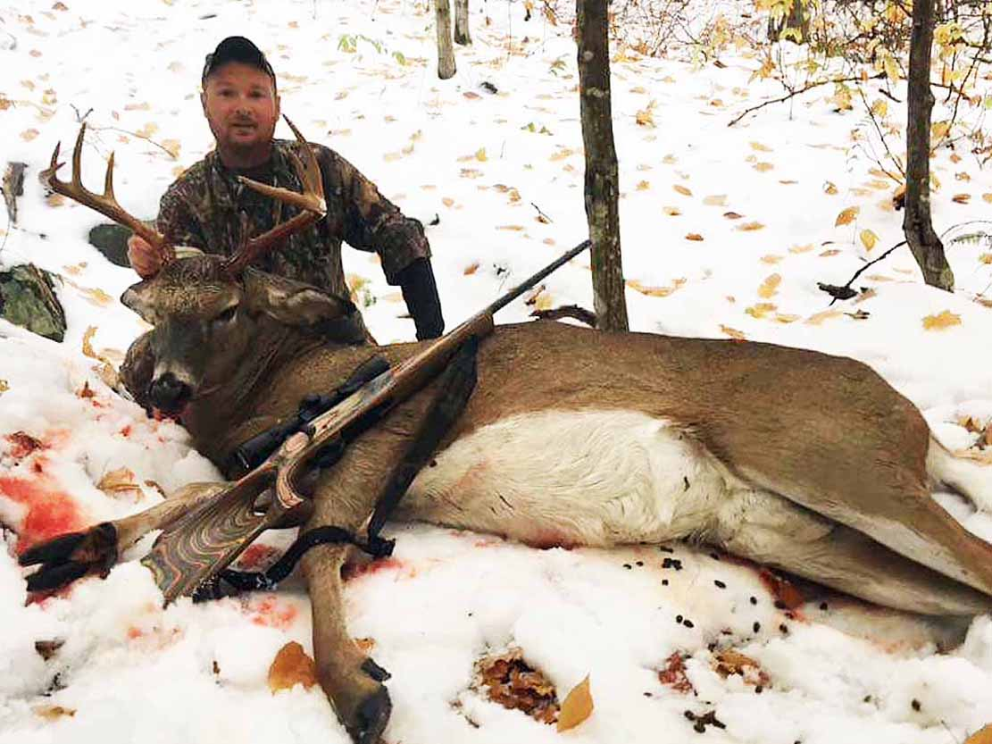 Luke Pettys with a 200-pound, 10-pointer taken in Warren County