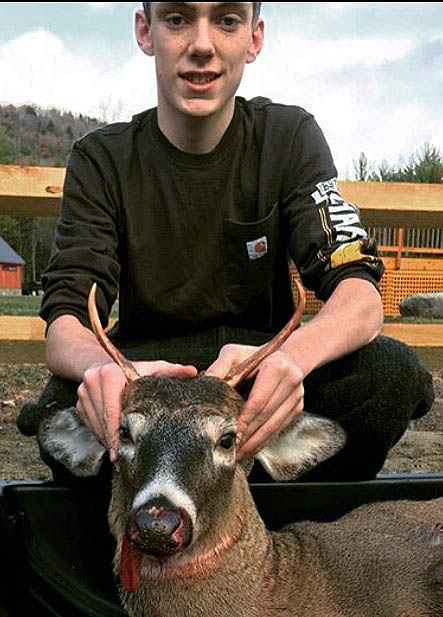 Dalton Reynolds of Lake Luzerne shot this spike on Nov. 11 in Corinth, Saratoga County
