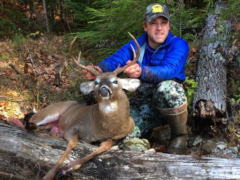 Todd Stevens of Glenville, NY with a 165-pound, 6-pointer taken Nov. 12 at Camp Laughin' Buck in Putnam, northern Washington County.