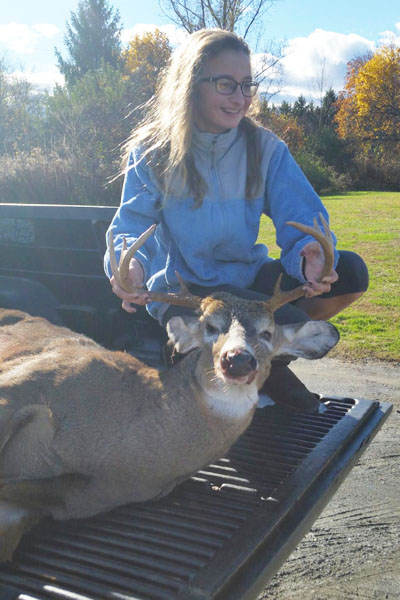 This fine buck was shot by Tom Berlin of Clifton Park, NY. 160-pound, 8-pointer taken Nov. 21 in Schroon Lake, Essex County.