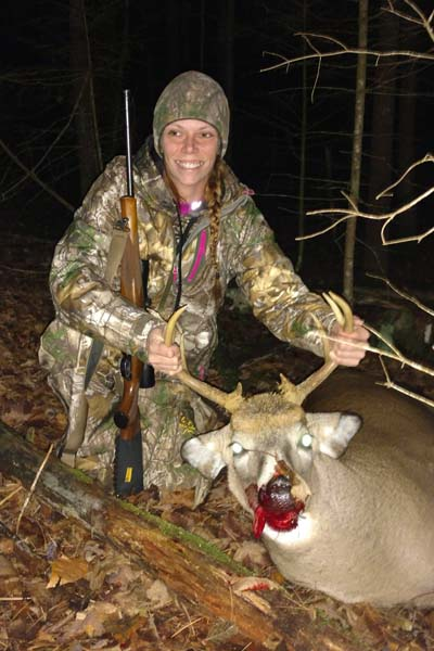 2017: Holly Shearer of Bakers Mills in Warren County with a 161-pound, 8-pointer taken Nov. 3 in her hometown.