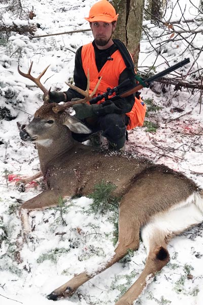 2017: Joey King with a 7-pointer he tracked in fresh snow on Nov. 20 in Hamilton County.