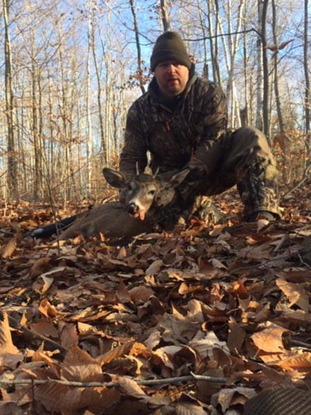 2017: Jeff Czajkowski of the Ghost Chasers with an 11th hour spike horn taken Nov. 30 in Hogtown (Fort Ann), Washington County.