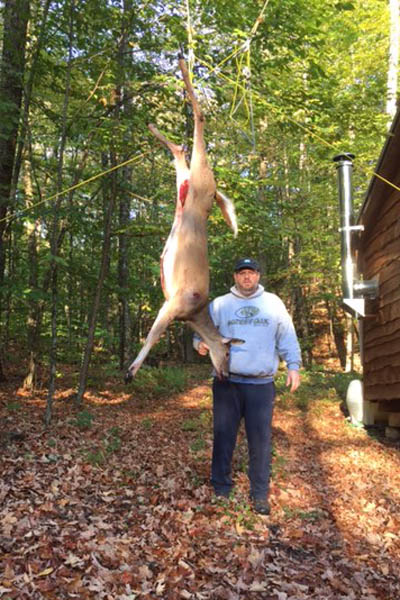 Jeff Czajkowski =of South Glens Falls arrowed this 105-pound doe on Oct. 3 in Fort Ann