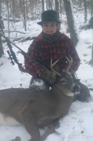 2018: Jack Gandolfini of Pine Bush, NY, age 14, with his 1st Adirondack buck: a 117-pound, 4-pointer taken Nov. 10 at Owl's Nest Hunting Camp in Hamilton County.