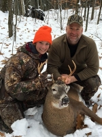 2018: Kevin Bouyea, and his daughter Kileigh, with Kevin's 7-pointer taken Nov. 17 in Queensbury, Warren County.