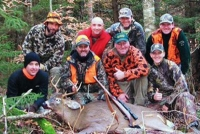 2018: The Ticonderoga Crew, with a 163-pound, 8-poiter taken in Essex County.