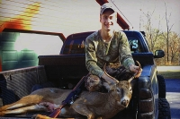 Matt Hoffman of Hadley, NY with a 130-pound, 4-pointer taken Nov. 11 in Saratoga County.