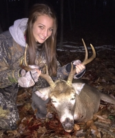 2017: Kileigh Bouyea, age 15, of Queensbury, with a fine buck taken with her dad in their hometown on Nov. 4.