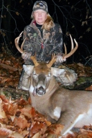 2017: Stephanie Schulze of West Fort Ann with a 155-pound, 9-pointer taken Nov. 19 in West Fort Ann, Washington County.