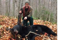 2017: Mike Delpha of New Milford, CT with a 260-pound black bear taken in early November in Essex County.