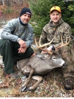 2017: Scott and Bill Kosnick of Charlton, NY with Scott's 8-pointer taken Dec. 2 in Indian Lake, Hamilton County.