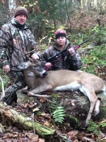 2017: Mike Yaw and daughter Tierny of Ticonderoga teamed up to take their first deer together, a 150-pound, 5-pointer taken Nov. 9 in Essex County.