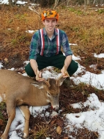 2017: Jonathan (Jack) Tennant of Heuvelton NY with s 165-pound, 8-pointer taken Dec. 2 in Cranberry Lake.