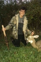 2017: Nick Zuger, age 15 of Washington County got his first deer, a fine 4-pointer during the Youth Hunting Weekend while hunting with his Dad