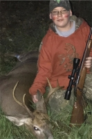 "Dan ""Remi"" Coltrain Jr. with a fine155-pound, 6-pointer taken Oct. 8 in Fort Edward during the Youth Hunting Weekend"
