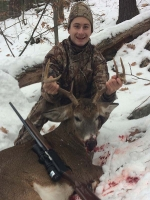 2018: Matt Hoffman of Hadley, NY, with a 150-pound, 8-pointer taken Nov. 24.
