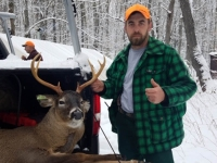 2018: Richie Marcinowski of Wendell, Mass., with a 170-pound, 7-pointer taken Nov. 17 in Indian lake, Hamilton County.