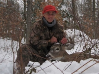 2018: Randall Swanson of Saranac Lake with a 5-pointer taken in Franklin County on Nov. 19.